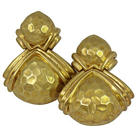 Hammerman Brothers Hammered Gold Earrings