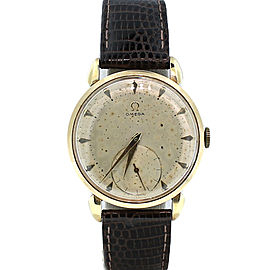 Vintage Omega Sub Second Wind Up 17 Jewels Gold Plated Automatic Watch