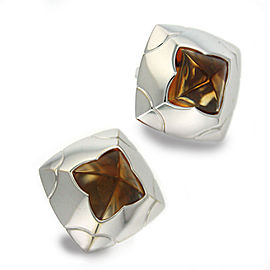 Bulgari Pyramide 18k Citrine Earrings