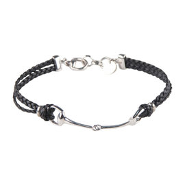 Gucci Sterling Silver and Braided Leather