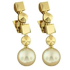 Bulgari Lucea 18k Yellow Gold Pearl Earrings