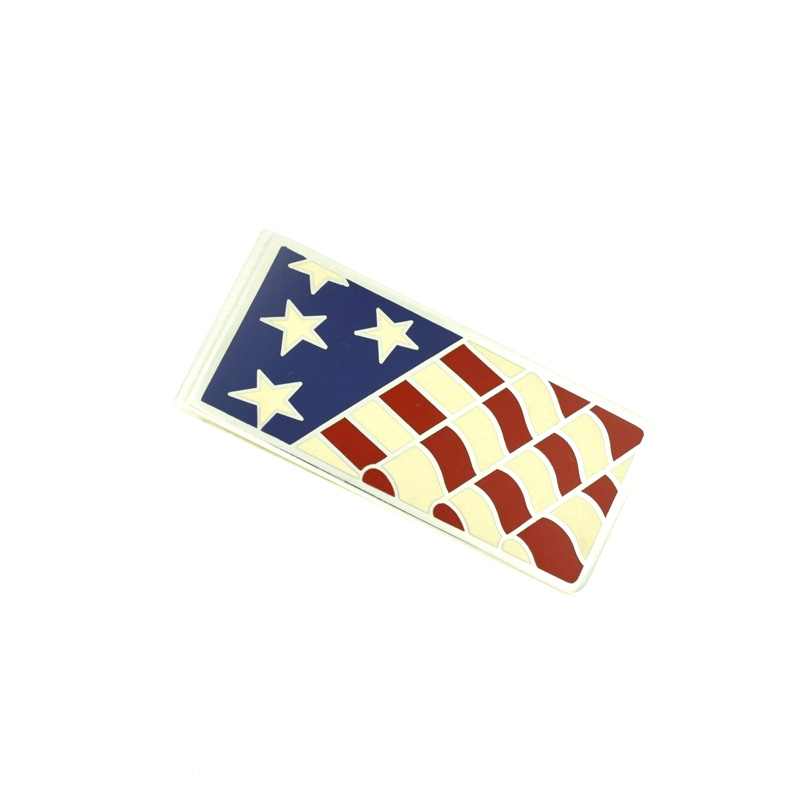 "Image of ""Tiffany & Co. Sterling Silver .925 American Flag Money Clip"""