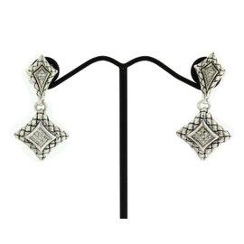 Scott Kay Sterling Silver Diamond Dangle Earrings