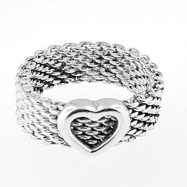 Tiffany & Co Sterling Heart Ring