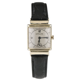 Jaeger-LeCoultre 438 10K Gold Filled Hand-Winding w/ Black Leather Band Men's Watch