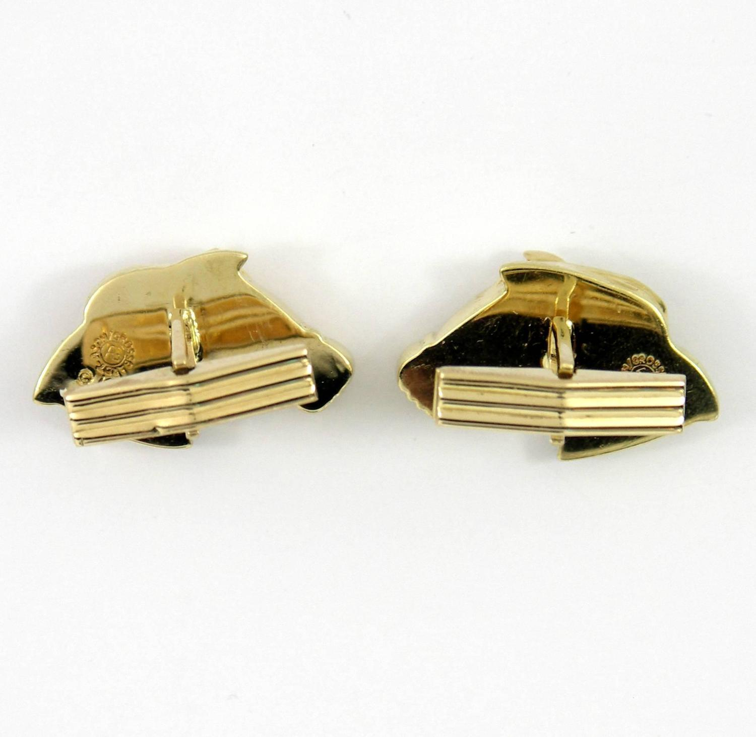 "Image of ""Asch Grossbardt Horse Head Cufflinks"""