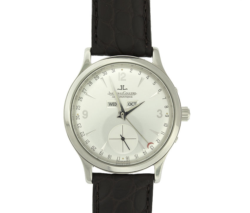 """Image of """"Jaeger-LeCoultre Maser Control Calendar Steel 37mm Silver Dial Watch"""""""
