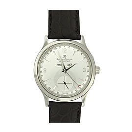 Jaeger-LeCoultre Maser Control Calendar Steel 37mm Silver Dial Watch