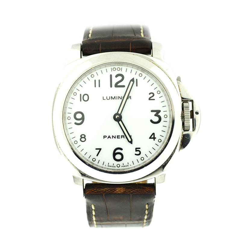 """Image of """"Panerai Luminor Stainless Steel Watch"""""""