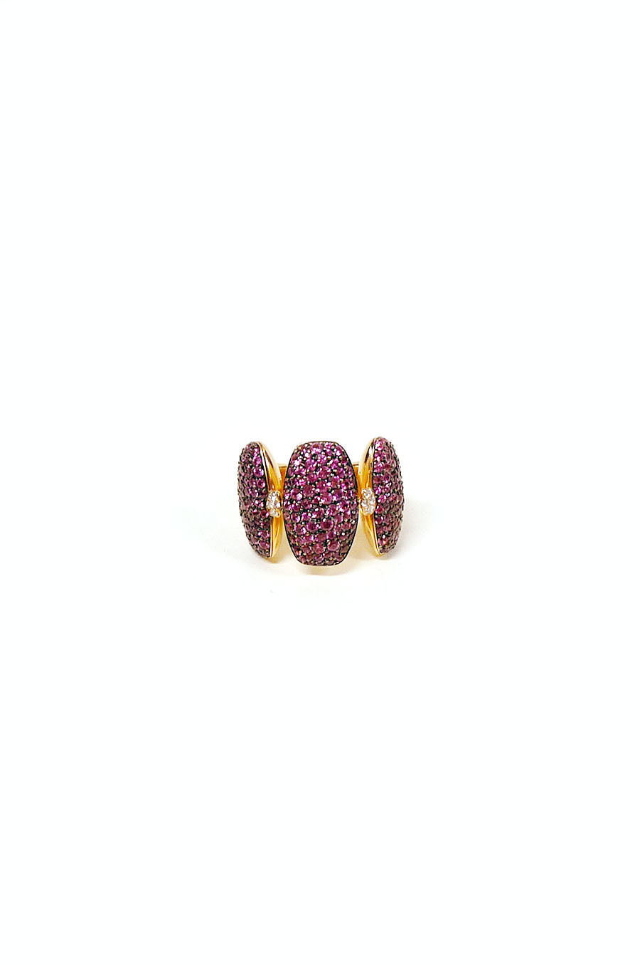 "Image of ""De Grisogono 18K Rose Gold And Pink Sapphire Ring"""