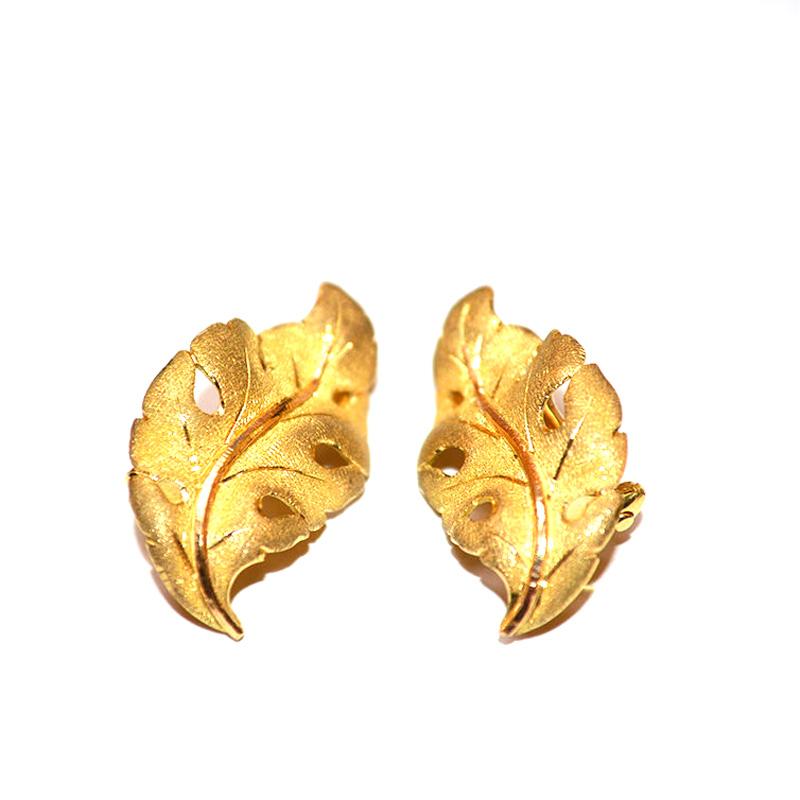 "Image of ""Buccellati 18K Yellow Gold Leaf Earrings"""