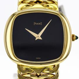 Piaget 9453 18K Solid Yellow Gold Hand-Winding Black Dial Watch