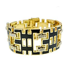 DeMaria 18K Yellow Gold Diamond Geometric Style Diamond Bracelet