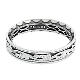 Tacori 18K White Gold Sculpted Crescent Wedding Band