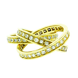 Cartier 18K Yellow Gold Trinity Diamond Ring