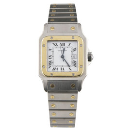 Cartier Santos 18K Yellow Gold and Stainless Steel 28mm Watch
