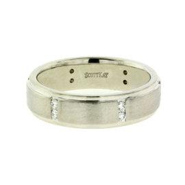 Scott Kay 19K White Gold Diamond Wedding Band Ring