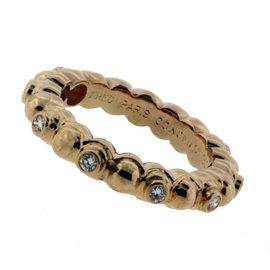 Fred Paris 18K Yellow Gold Diamond Eternity Ring