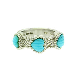 Judith Ripka In Sterling Silver Turquoise Ring