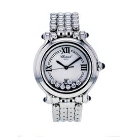 Chopard 27/8236-23 Happy Sport Stainless Steel Quartz White Dial Womens Watch
