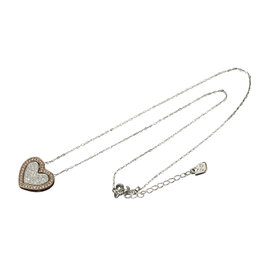Swarovski Silver Tone Metal Heart Necklace