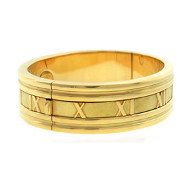 Tiffany & Co. 18K Yellow Gold Atlas Roman Numeral Bangle Bracelet