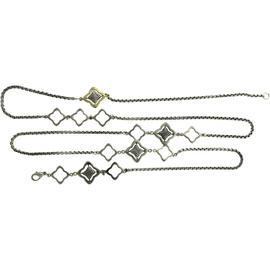 David Yurman 18k Yellow Gold, Sterling Silver Necklace 38
