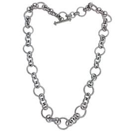 Judith Ripka Sterling Silver Heavy Toggle Lock Chain