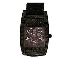 De Grisogono Uno Instromentino Black Diamond & Pink Sapphire Womens Watch