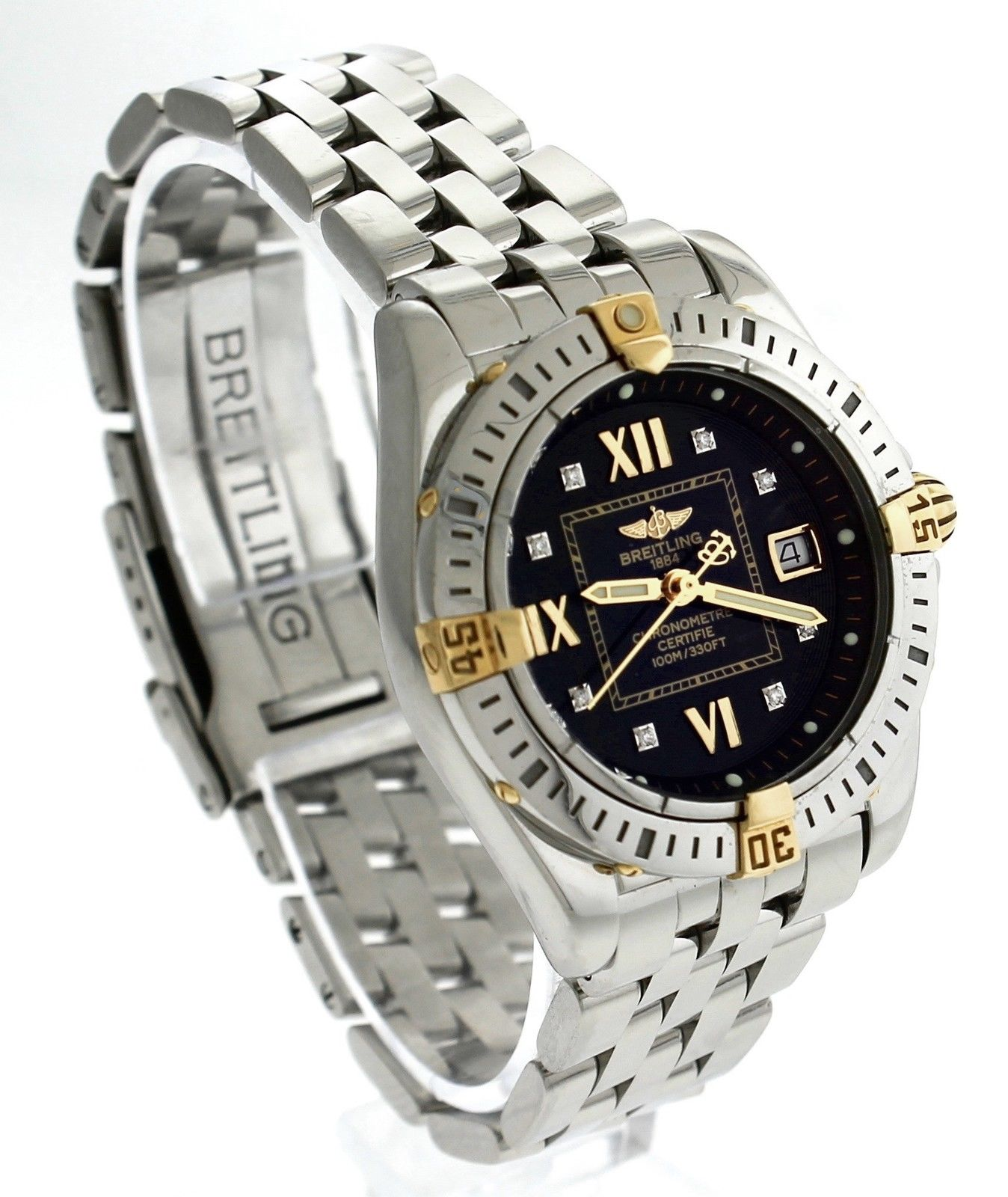 "Image of ""Breitling B71356 Cockpit Windrider Black Diamond Stainless Womens 31mm"""