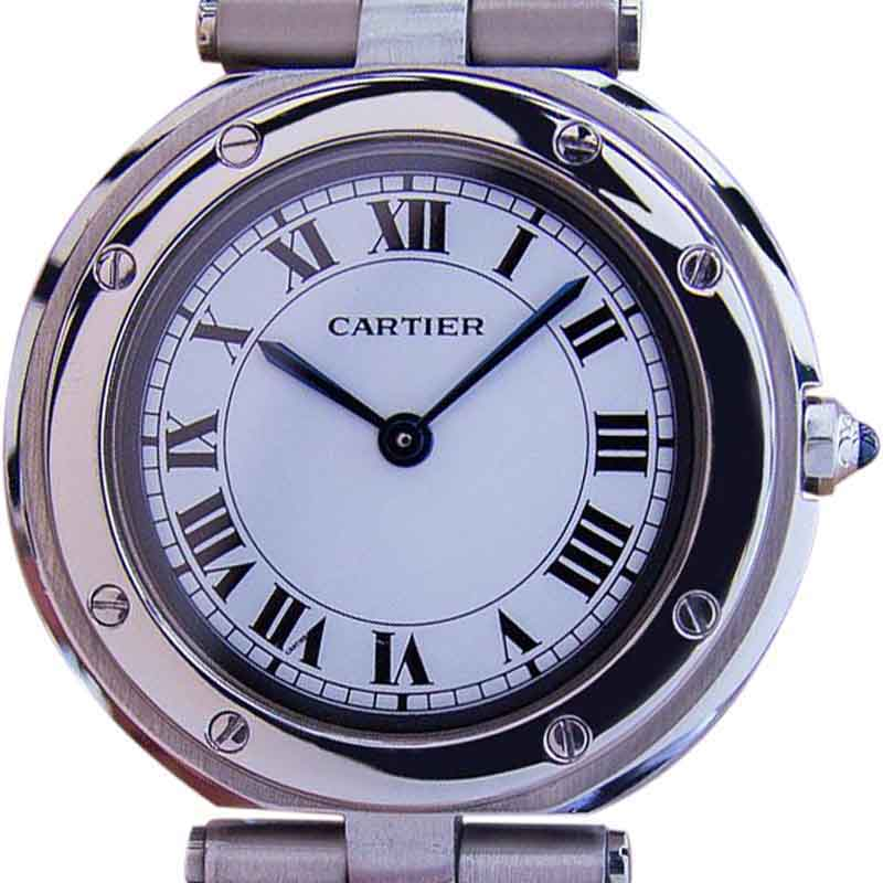 """Image of """"Cartier Swiss Made Stainless Steel Quartz Mid Size Unisex Watch 2000"""""""