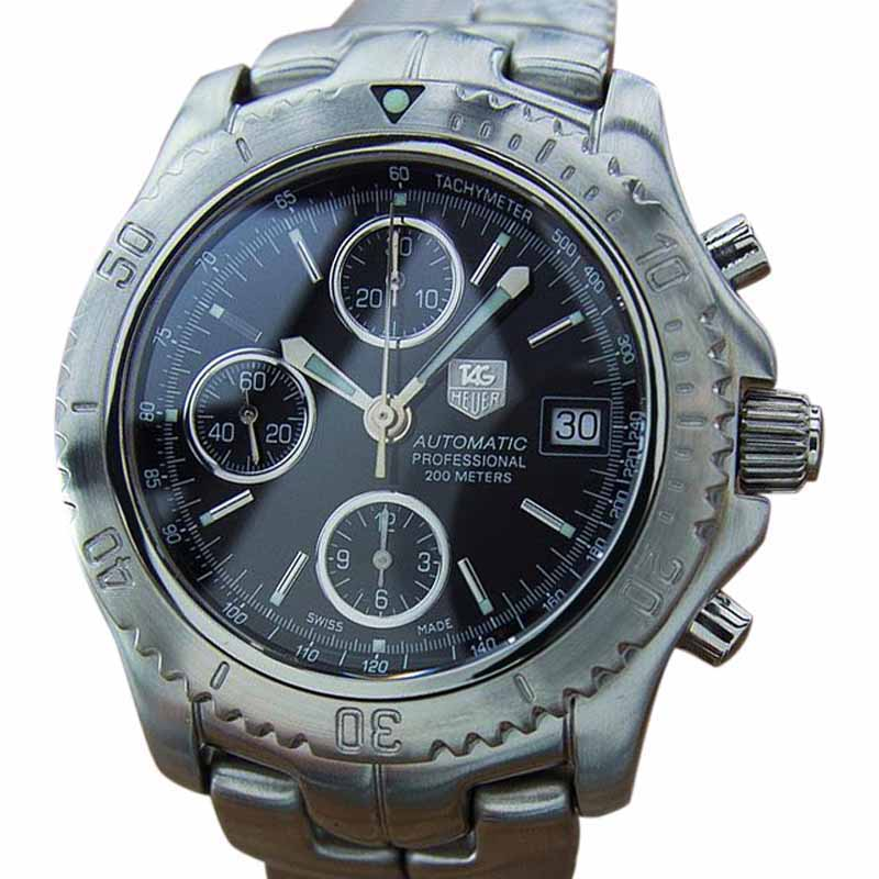 "Image of ""Tag Heuer Large Swiss Made Chronograph Automatic Stainless Steel Mens"""