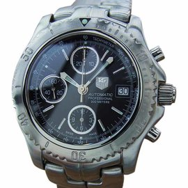 Tag Heuer Large Swiss Made Chronograph Automatic Stainless Steel Mens Watch