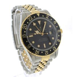 Rolex GMT-Master 16753 Black Jubilee Two-Tone Gold Stainless 40mm Watch