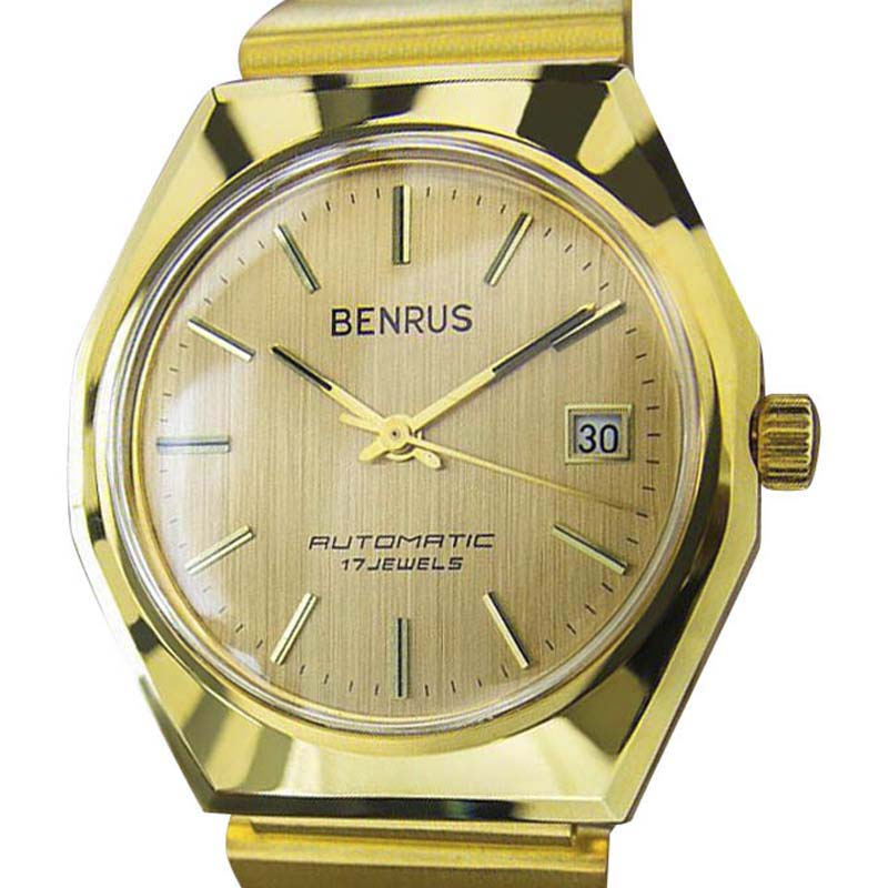 "Image of ""Benrus Gold Plated & Stainless Steel 36mm Watch Year 1960"""