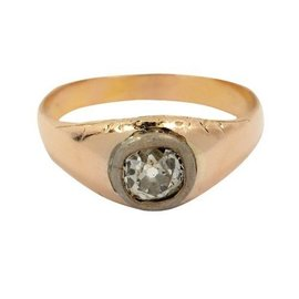 18K Yellow Gold 0.62 ct Diamond Solitaire Engagement Ring