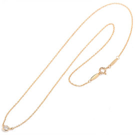 Tiffany & Co. 750 18K Pink Gold By The Yard Diamond Elsa Peretti Necklace
