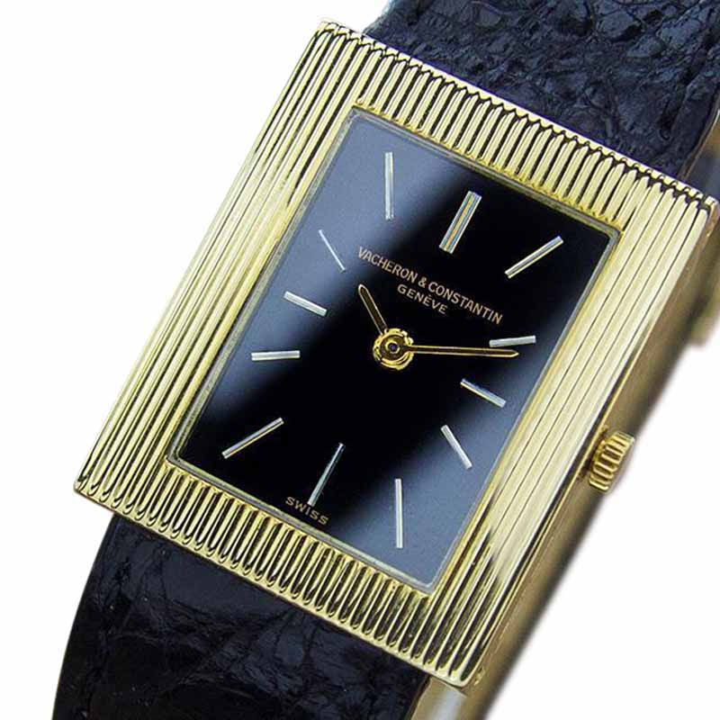 "Image of ""Vacheron Constantin 18K Yellow Gold & Leather 23mm Watch"""