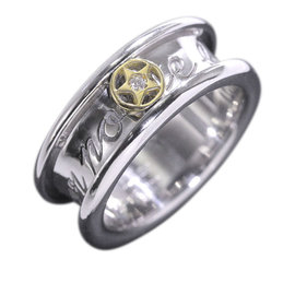 Christian Dior 18K Yellow and White Gold Diamond Ring Size 4.5