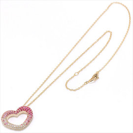 Ponte Vecchio 18K Pink Gold 1.32ct Diamond Emozione Sapphire Necklace
