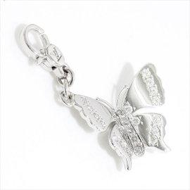 Louis Vuitton 18K White Gold & Diamond Charm De Monogram Papillon Pendant