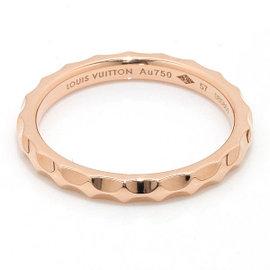 Louis Vuitton 18K Rose Gold Alianza Monogram Infini Ring Size 8.25