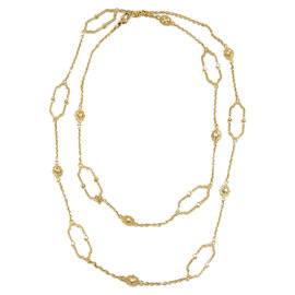 Judith Ripka 18K Yellow Gold Diamond Chelsea Links Necklace