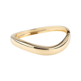 Chaumet Paris 18K Yellow Gold Hinged Bangle Bracelet