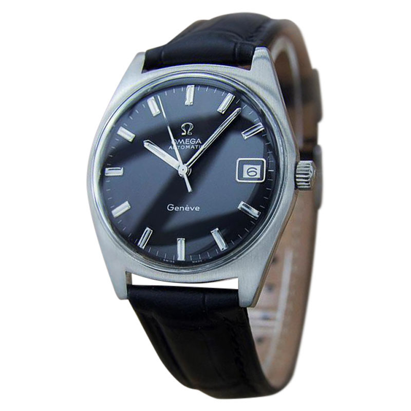 """Image of """"Omega Geneve Swiss Made Automatic Stainless Steel Vintage Mens Watch"""""""