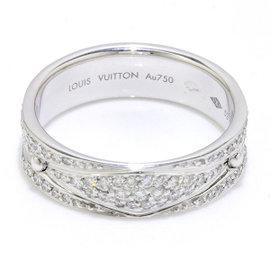 Louis Vuitton 18K White Gold & Diamond Ring