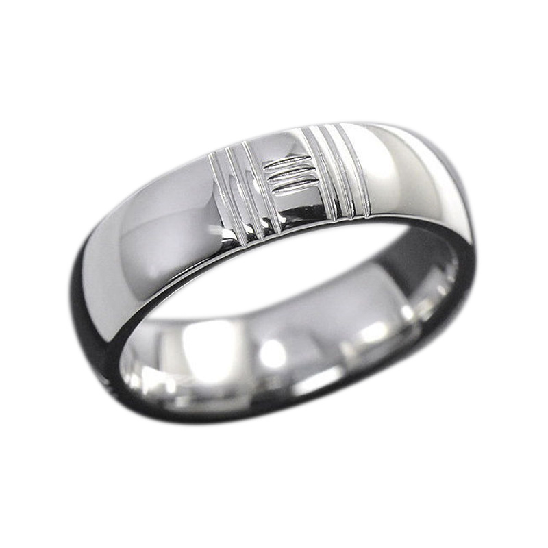 "Image of ""Hermes 18K White Gold Alliance Kelly Ring Size 4.0"""