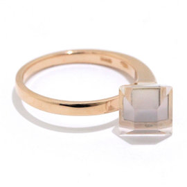 Gucci 18K Pink Gold and Quartz Ring Size 7