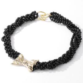Tiffany & Co. 18K 14K Yellow Gold Onyx Necklace