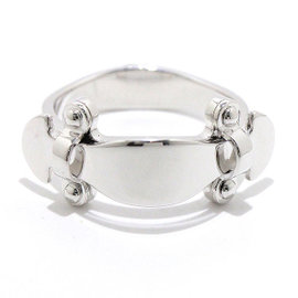 Louis Vuitton 18K White Gold Stand by Me Ring Size 5.0